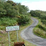 The start of Calum's Road on Raasay