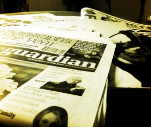 Picture of newspapers