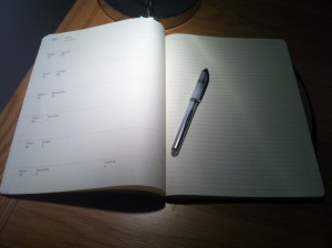 A Moleskine and a smoothly flowing pen always help the writing process.